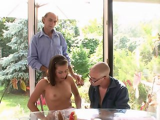 Guy got lucky with super pretty wife who cuckolded her old husband in the country