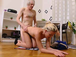 FLASH !!! After some fucking, Nelya is bent over and her ass is fucked deep and hard by his cock. She loves his cock in her ass and her ass filled wit