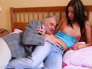 There is nothing like sharing your woman with an older guy.  Call It help the aged or something if you like, but either way it's a nice gesture t